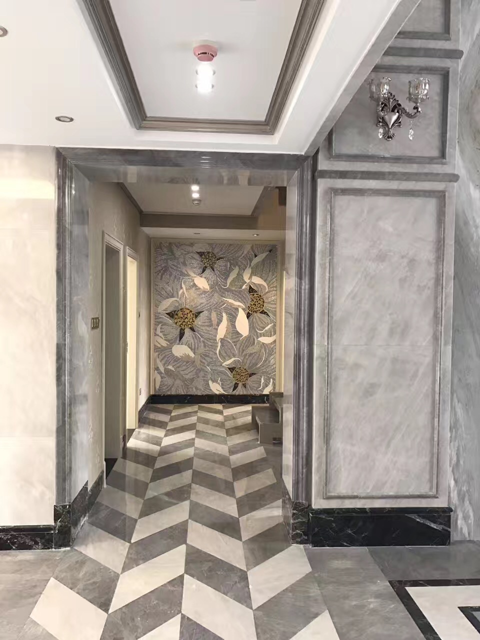 Grey and white marble project